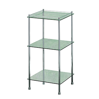 sports shoes 71dfb 3381a Essentials Freestanding Three Tier Glass Shelf Unit ...